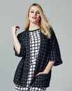 AX Paris Check Print Drape Jacket
