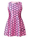 AX PARIS PINK POLKA DOT SKATER DRESS