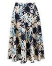 Closet Bird Print Midi Skirt