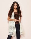 Simply Be Ladder Knit Fringe Waistcoat