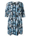 Junarose Blue Print Straight Dress