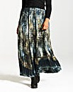 Elvi Marble Print Maxi Skirt