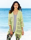 Open Knit Tassle Cardigan