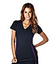 Cotton Rich Performance V Neck T-shirt