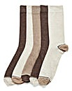 Wolsey 5 Pack Heel and Toe Socks