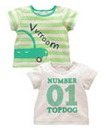 KD BABY Boys Pack of Two Tops