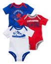 Converse Boys Pack of Three Bodysuits