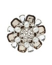 Mood Pearl and Crystal Flower Brooch
