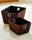 Eyelet Storage Totes Set of 2