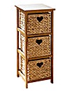 Water Hyacinth 3 Drawer Unit