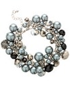 Mood Pearl And Bead Cluster Bracelet