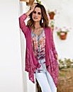 Together Lace Trim Jersey Cardigan
