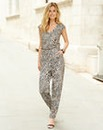 JOANNA HOPE Animal Print Jumpsuit