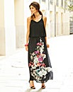 JOANNA HOPE Layered Print Maxi Dress