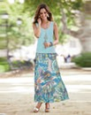 Together Print Maxi Skirt
