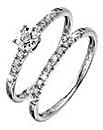 9 Carat Gold Set of 2 Diamond Rings