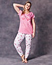 Pretty Secrets Flamingo Print Pyjama Set