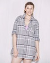 Pretty Secrets Check Print Nightshirt