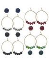 Mood Beaded hoop earring set