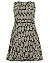 Samya Sleeveless Leaf Print Dress.