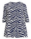 Samya 3/4 Sleeve Stripes Print Dress