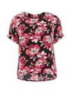 Koko Floral Zip Back Top
