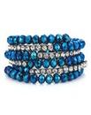 Mood bead and diamante coil bracelet