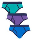 Southbay Pack of 3 Keyhole Briefs
