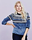 Fluffy Aztec Jumper