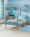 Convertible Metal Bunk Bed with Mattress
