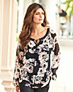 JOANNA HOPE Print Gypsy Blouse