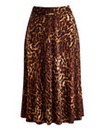 JOANNA HOPE Animal Print Jersey Skirt
