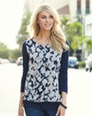 JOANNA HOPE Print Overlay Top