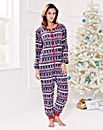 Pretty Secrets Christmas Fleece Onesie