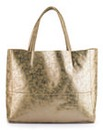 2 in 1 Metallic Shopper Bag