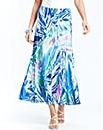 Printed Godet Skirt