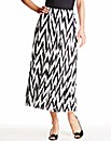 Nightingales Chevron Print Skirt