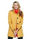 Nightingales Coat With Contrast Buttons