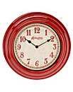 Hometime Red Wall Clock 30cm