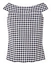Gingham Bardot Jersey Top