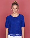 Lace-Front Knitted Top