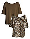 Pack of Two Bardot Tops
