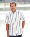 Premier Man Short Sleeve Stripe Shirt