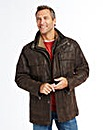 Premier Man Leather Car Coat