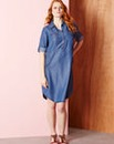 Lyocell Knee-Length Denim Dress