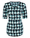 Dogtooth Jersey Top