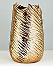 Ceramic Gold Metallic Vase
