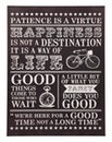 Happiness Typography Wall Plaque