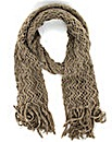 Knitted Tassled Scarf