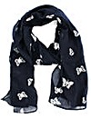 Foil Butterfly Print Scarf